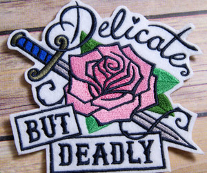 patches, rose, and delicate but deadly image