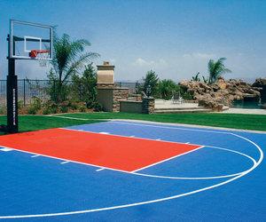 Basketball, court, and sky image
