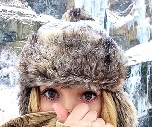 cold, girl, and hiking image
