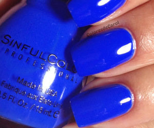 blue, blue nail polish, and blue nails image