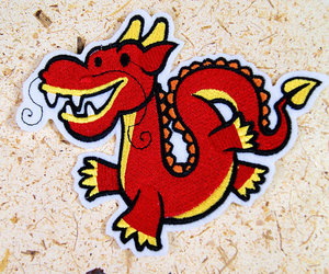 dragon, patches, and chinese dragon image