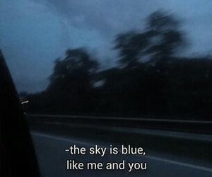 blue, grunge, and sky image