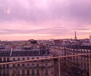 paris, rose, and sky image