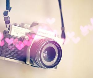 camera, hearts, and photo image