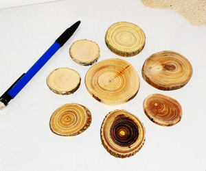 craft supplies, etsy, and wooden slice image