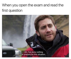 answer, exam, and first image