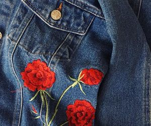 aesthetic, jeans, and rose image
