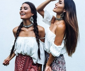 fashion, boho, and friendship image
