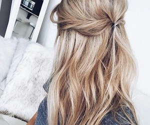 beautiful, blond, and hairstyle image