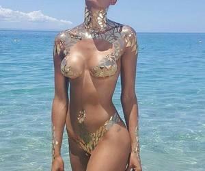 art, bikini, and body image