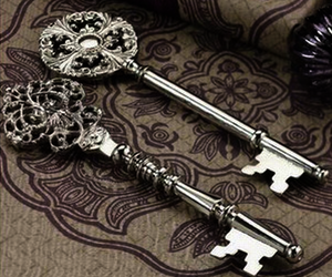 key, silver, and vintage image