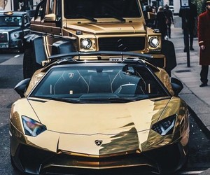 car and gold image
