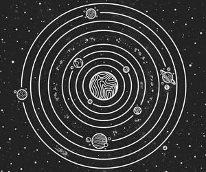 stars, universe, and art image