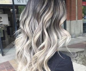 blonde, blonde hair, and grey hair image