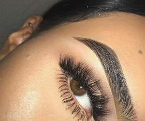 lashes, stunning, and brows image