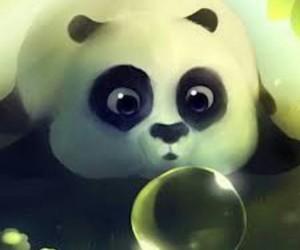 background, panda, and tierno image
