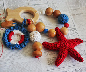 etsy, baby gift, and crochet beads image