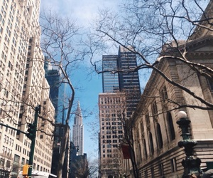buildings, new york, and sky image