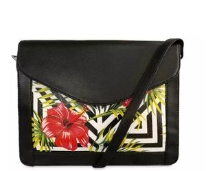 bag, fashion, and flowerprint image