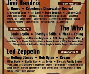 coachella, Jimi Hendrix, and led zeppelin image