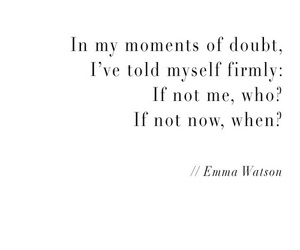 quotes, emma watson, and doubt image