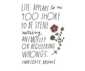 quote, life, and charlotte bronte image