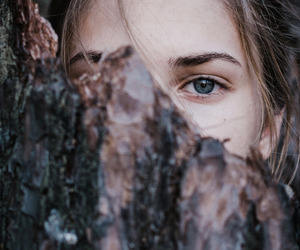 tree, eyes, and photography image