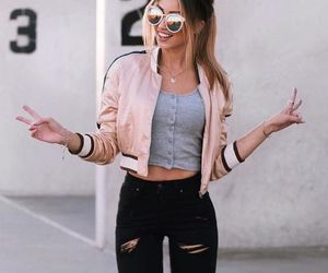 outfit, clothes, and pink image