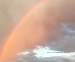 sky, aesthetic, and rainbow image