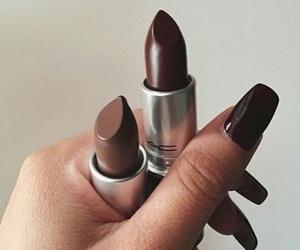 nails, makeup, and lipstick image