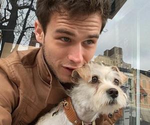 brandon flynn, 13 reasons why, and dog image