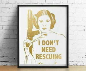 carrie fisher, girl+power, and quote image