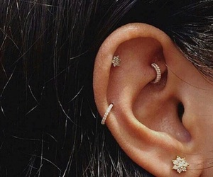 ear, girl, and h image