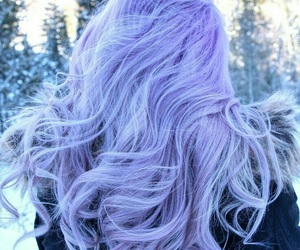 hair, purple, and tumblr image
