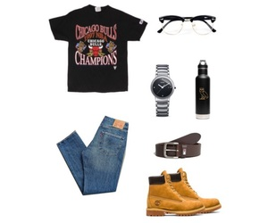 levi's, chicago bulls, and timberland image