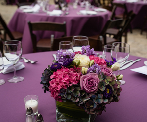 centerpieces, ideas, and purple image