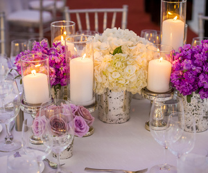 candles, centerpieces, and chic image