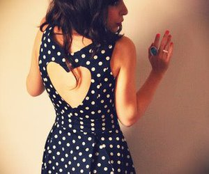 dress, heart, and girl image