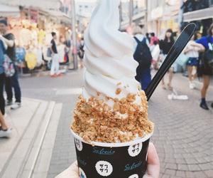 ice cream, food, and city image