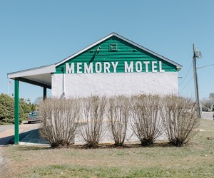 green, places, and memory motel image