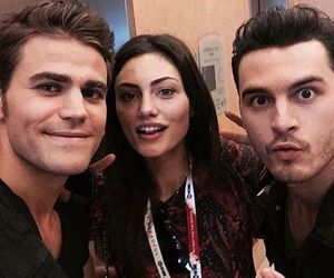paul wesley, phoebe tonkin, and The Originals image