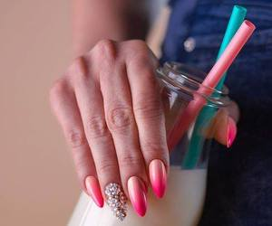 drink, gelpolish, and ombre image