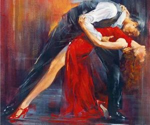 dance, tango, and couple image