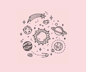 pink, wallpaper, and stars image