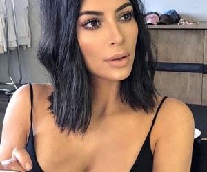 hair, kardashians, and kim kardashian image