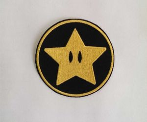 black, gold, and patches image