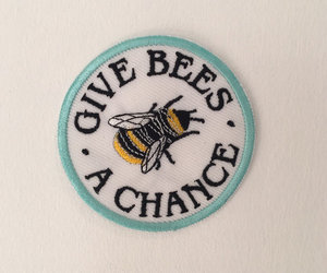 bee, patches, and give bees a chance image