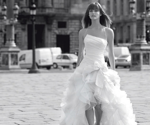 dress, black and white, and wedding dress image