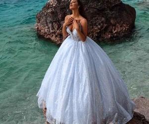 wedding dress, wedding photography, and white dress image