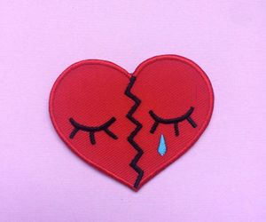 heart, patches, and red image